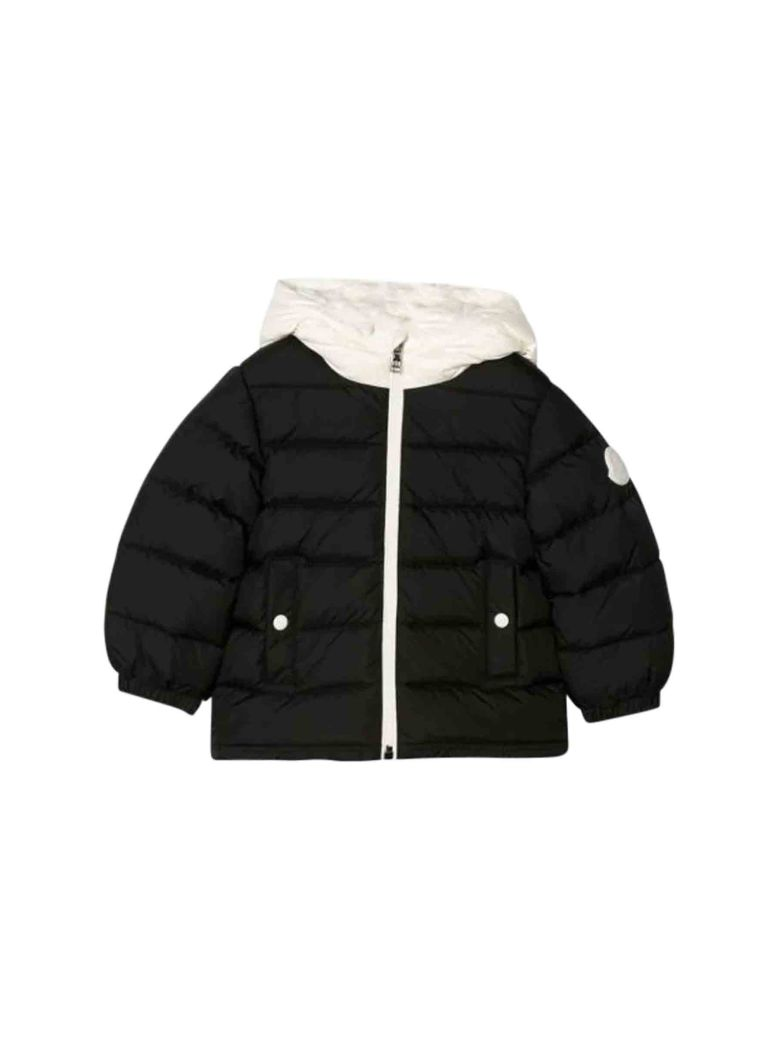 Moncler Babies' Down Jacket With Hood In Nero