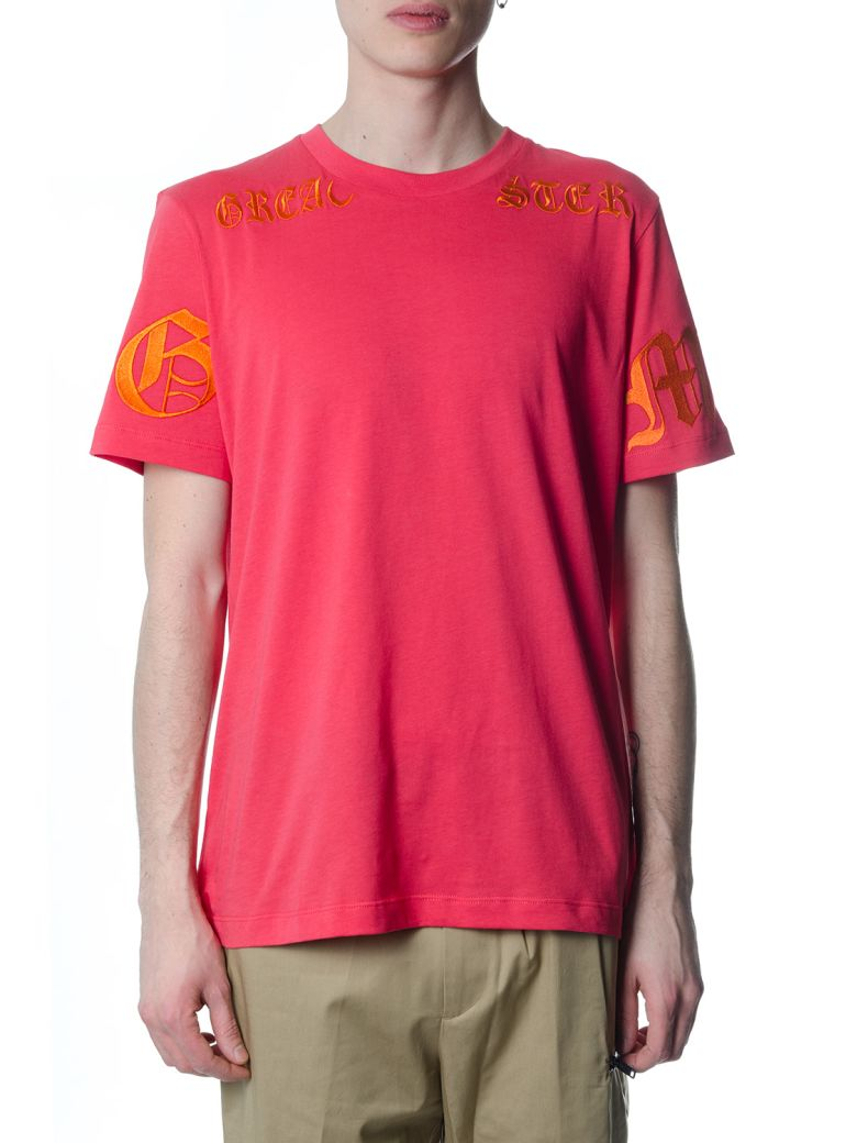OMC Pink Cotton Branded T-shirt - Pink