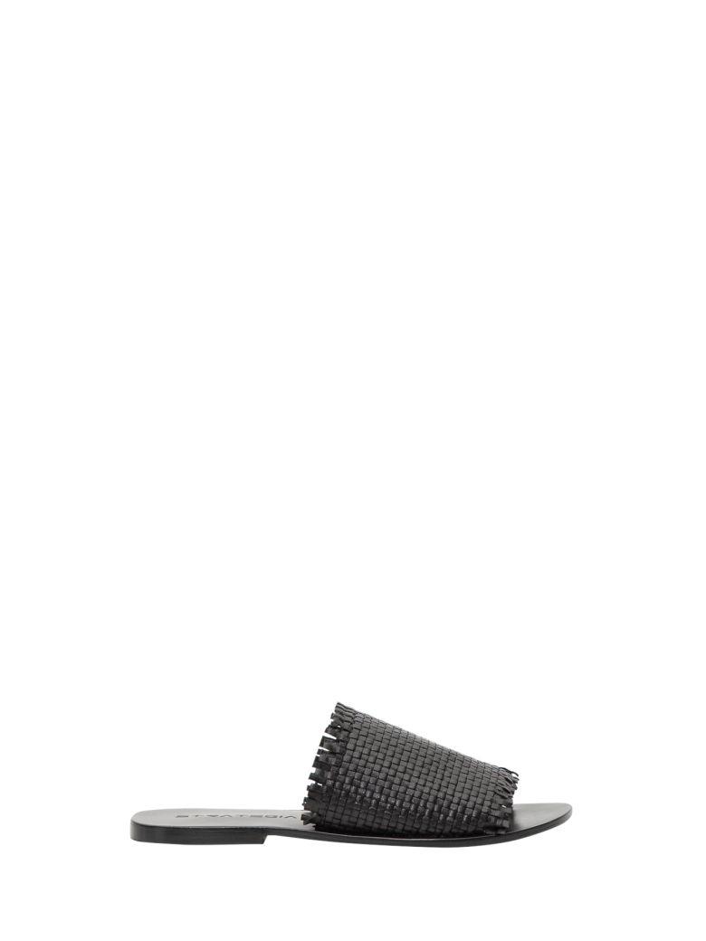 Strategia Leather Slide - Black