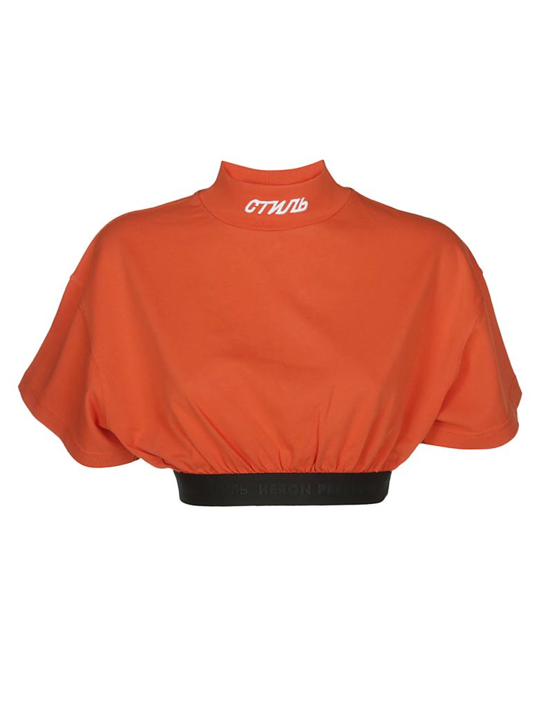 HERON PRESTON Elastic Band T-shirt - Orange