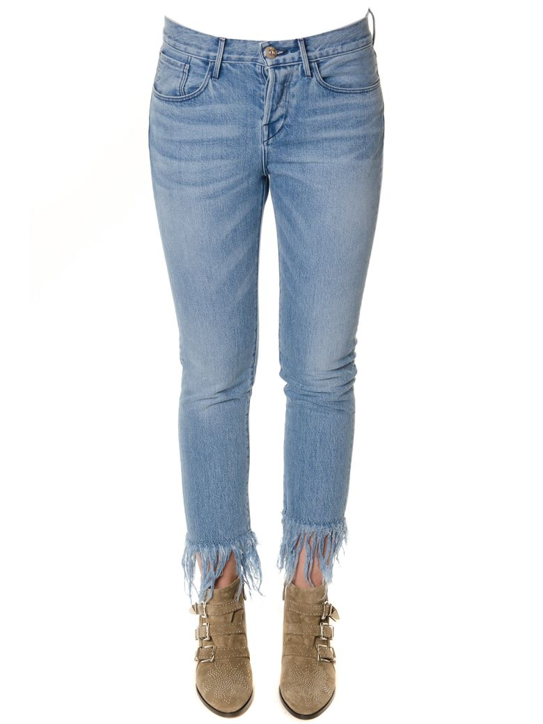 3x1 Denim Fringed Jeans - Blue