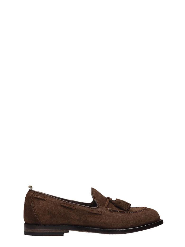 Officine Creative Brown Suede Loafer - Brown