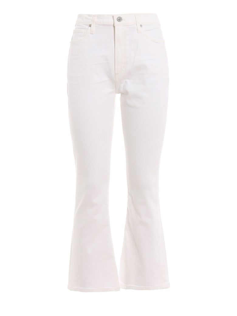 Citizens of Humanity Demy Cropped Flared Jeans - Unveil White