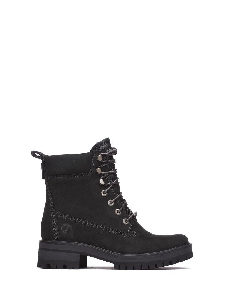 Timberland Ankle Boots In Black Nabuk - Black