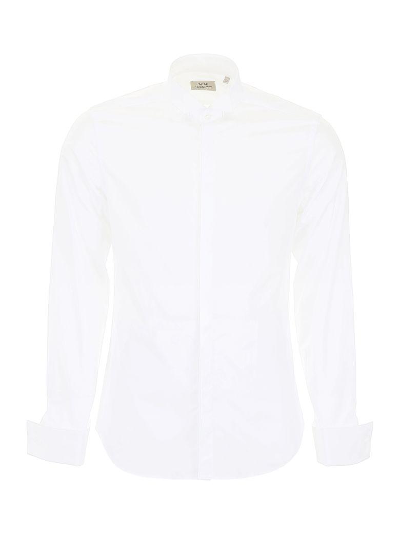 CC Collection Corneliani Shirt With Wing Collar - BIANCO OTTICO|Bianco