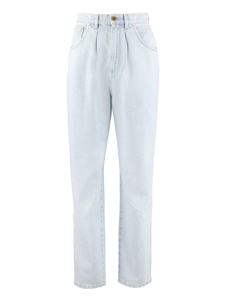 Alberta Ferretti High-rise Straight Ankle Jeans - Denim