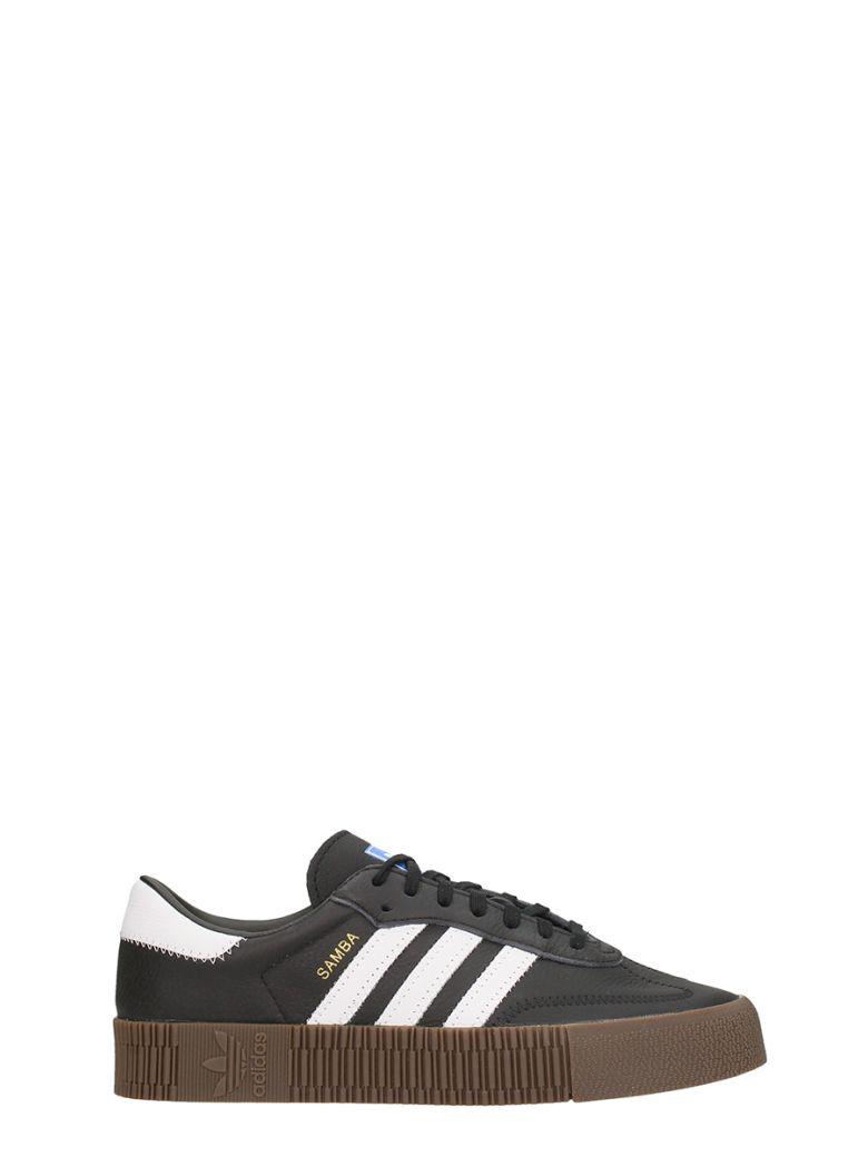 Adidas Sambarose Black Leather Sneakers - black