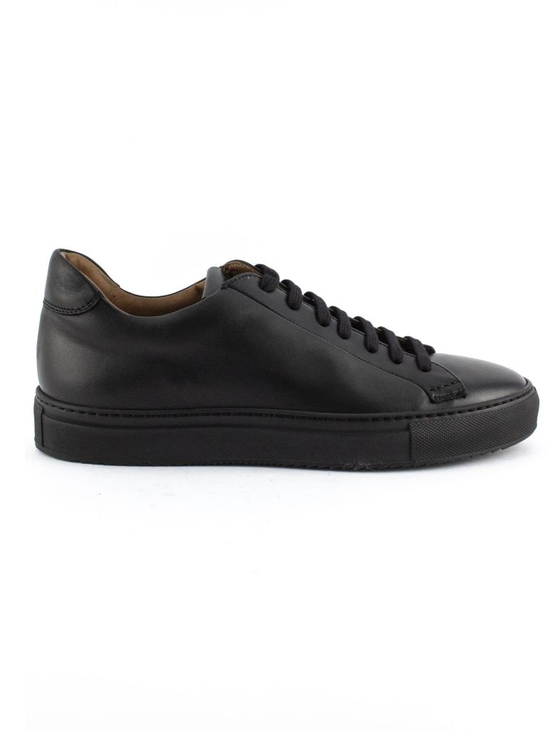 Doucal's Sneakers In Black Leather. - Nero