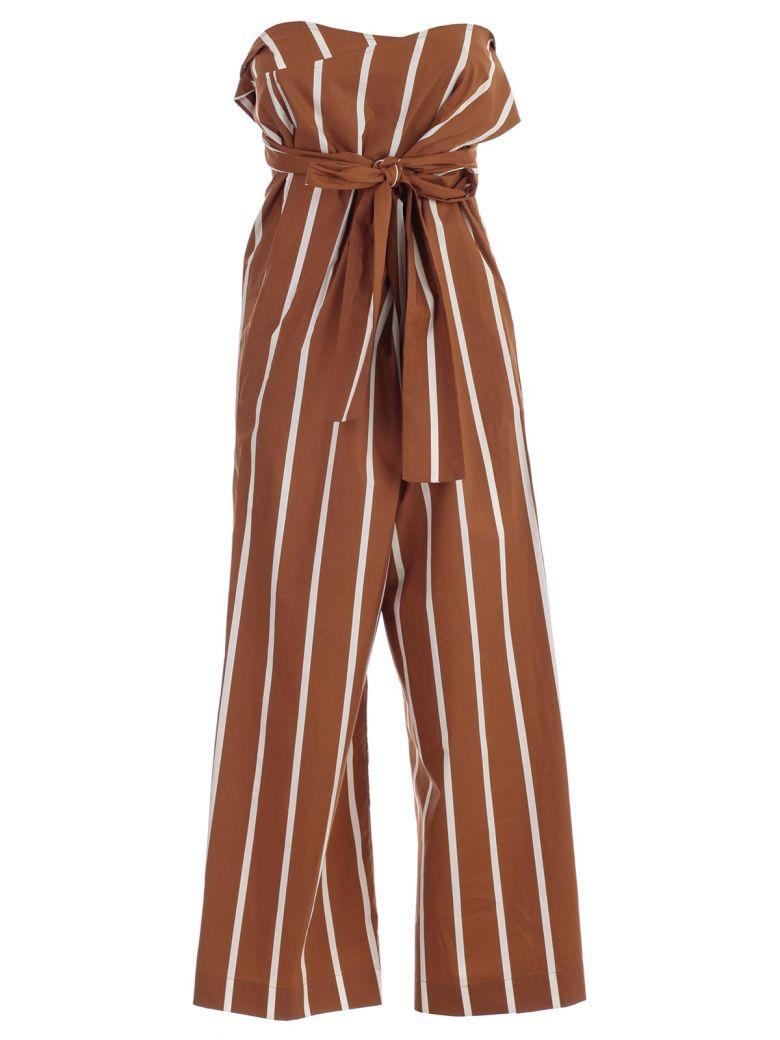SEMICOUTURE Striped Paperbag Trousers - Riga Tegola