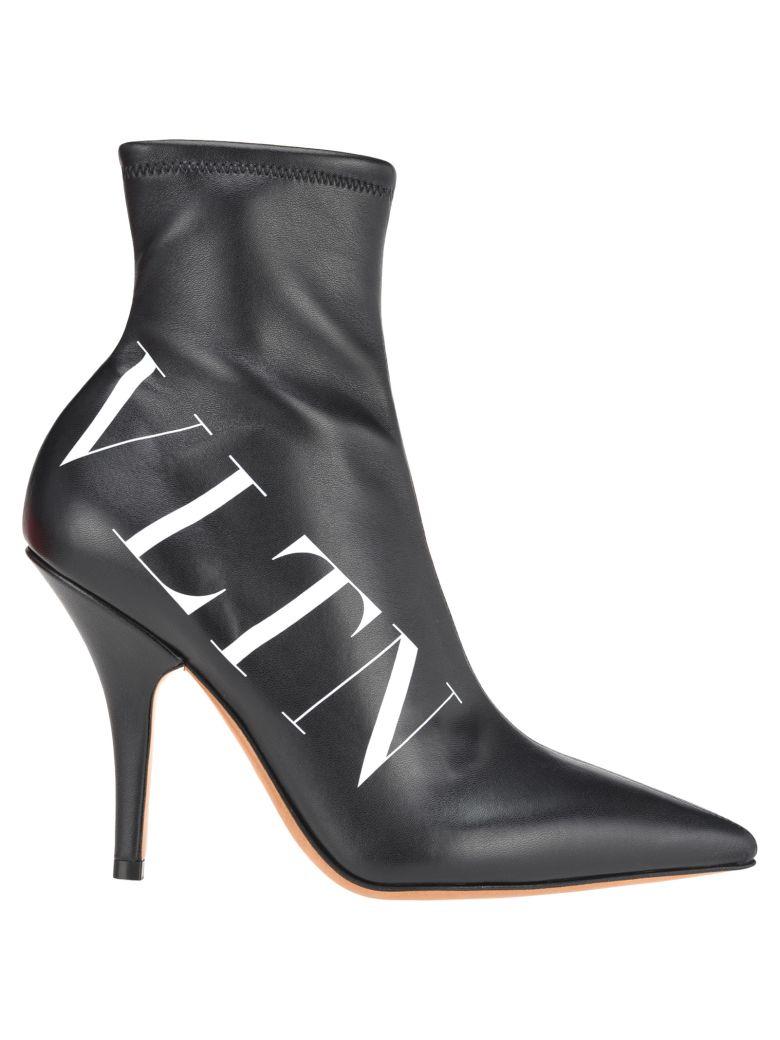 Valentino Sock Bootie Vltn - Black