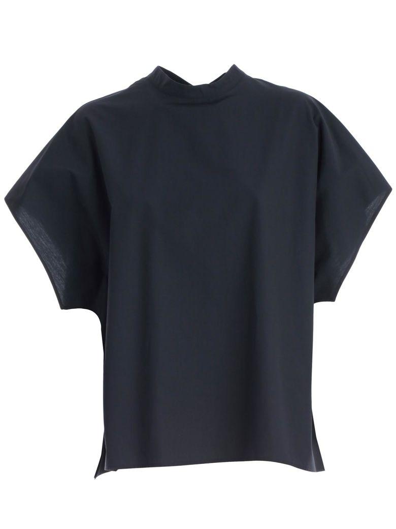 Hache Cap Sleeve Top - Blue
