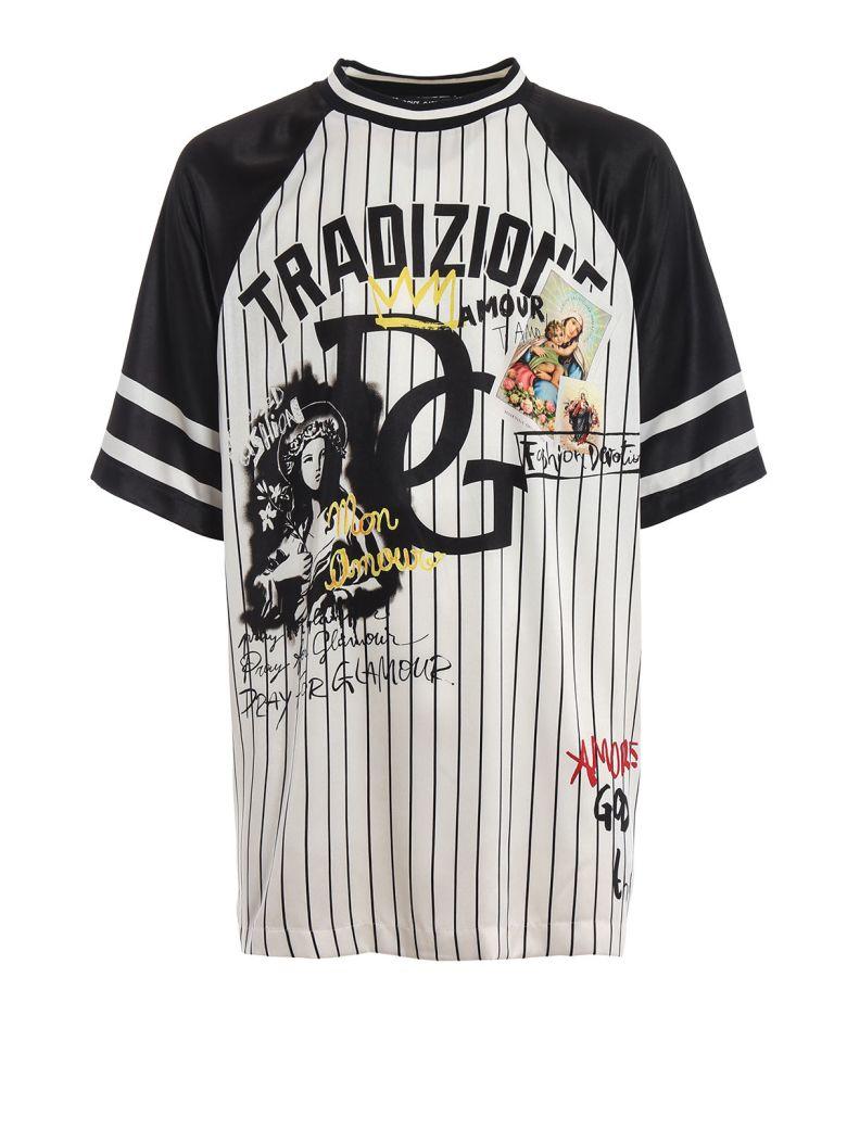 Dolce & Gabbana Oversized Printed T-shirt - White
