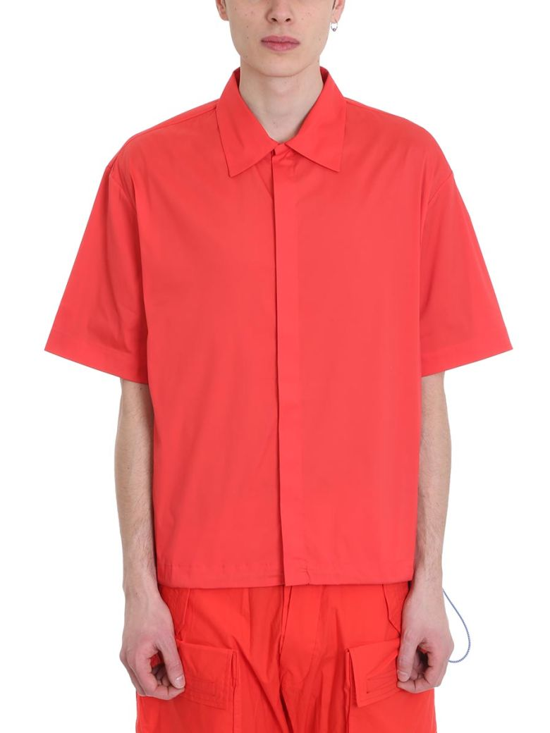 Ben Taverniti Unravel Project Red Cotton Shirt - Red