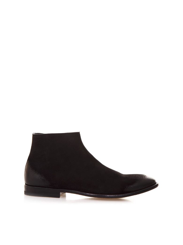 Alexander McQueen Black Ankle Boots In Suede - Black