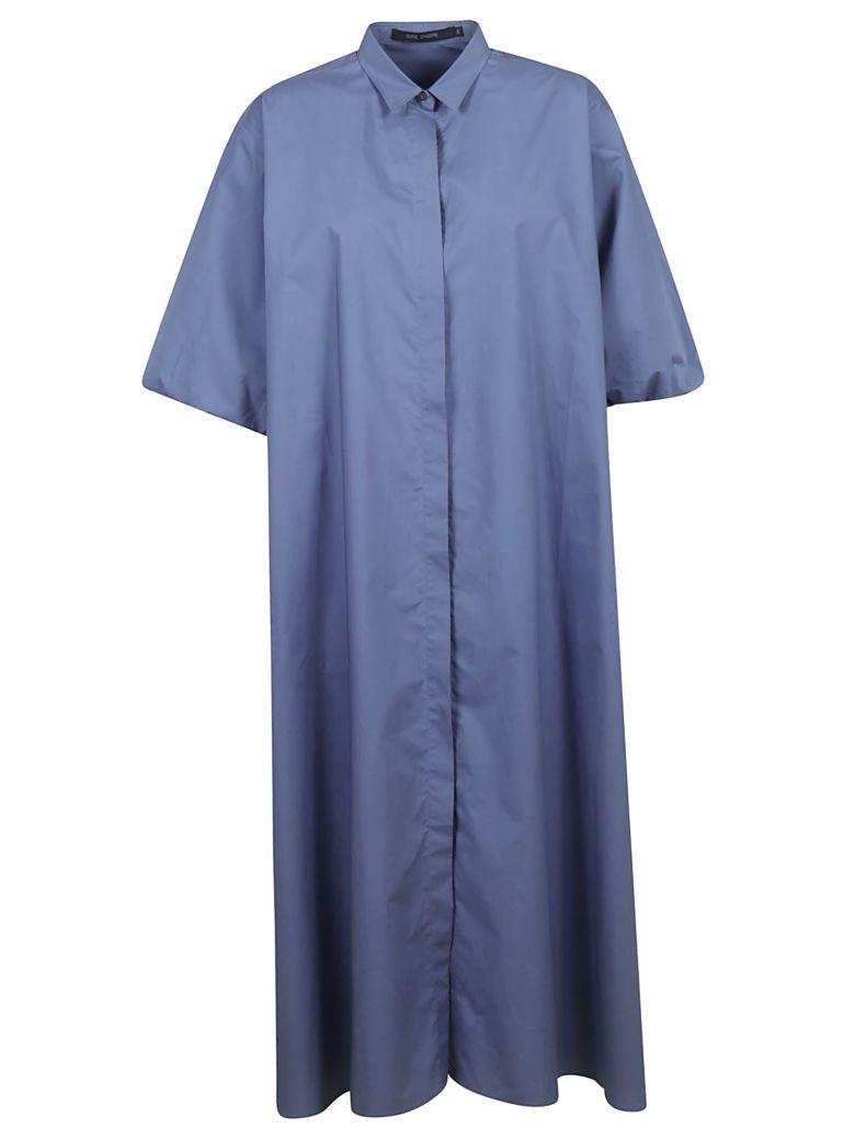Sofie d'Hoore Long Length Shirt Dress - Light Blue