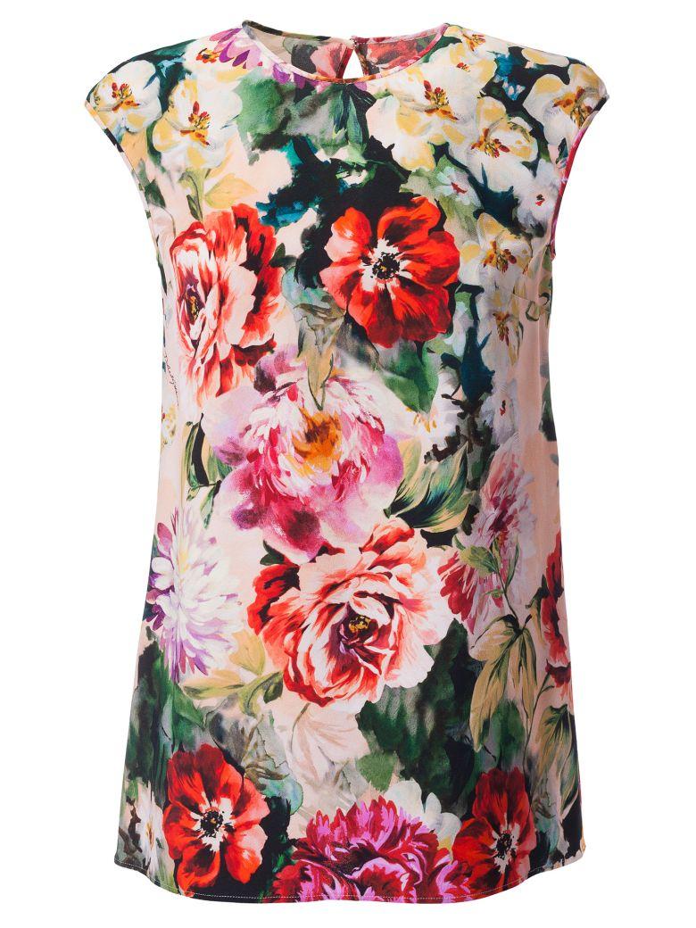 Dolce & Gabbana Floral Print Blouse - Nero