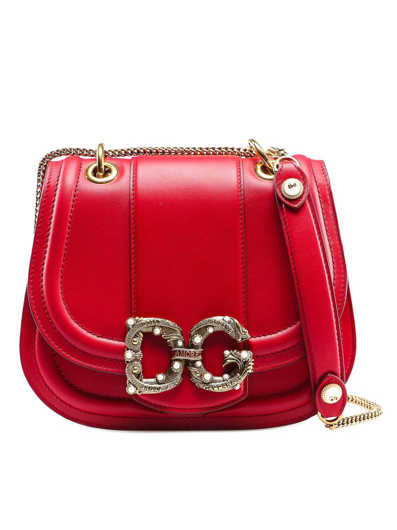 Dolce & Gabbana Dg Amore Shoulder Bag - Rosso Papavero