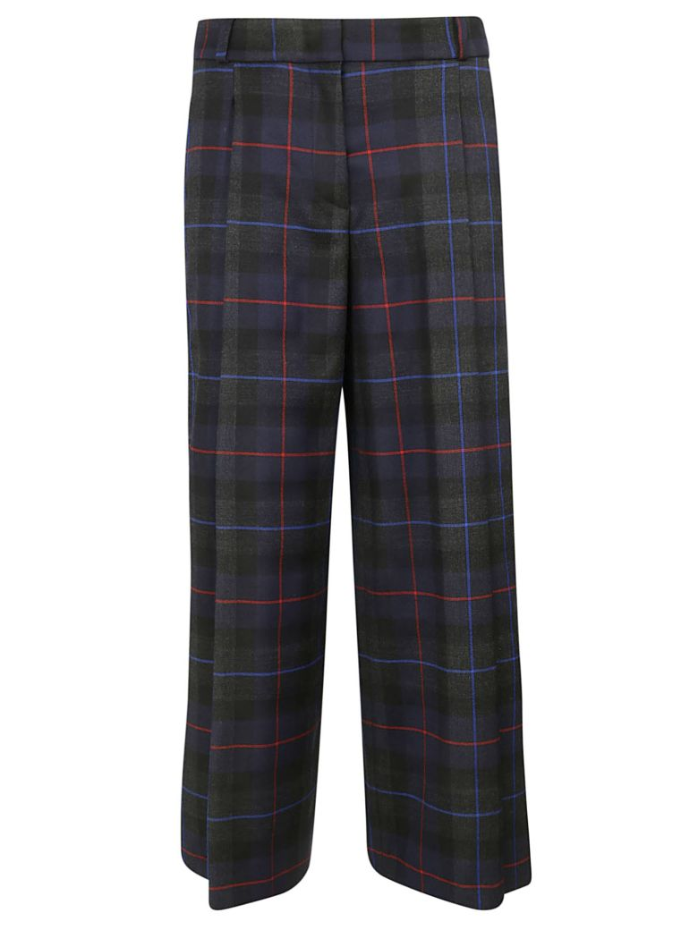Kiltie & Co. Kiltie Checked Trousers - Tartan navy