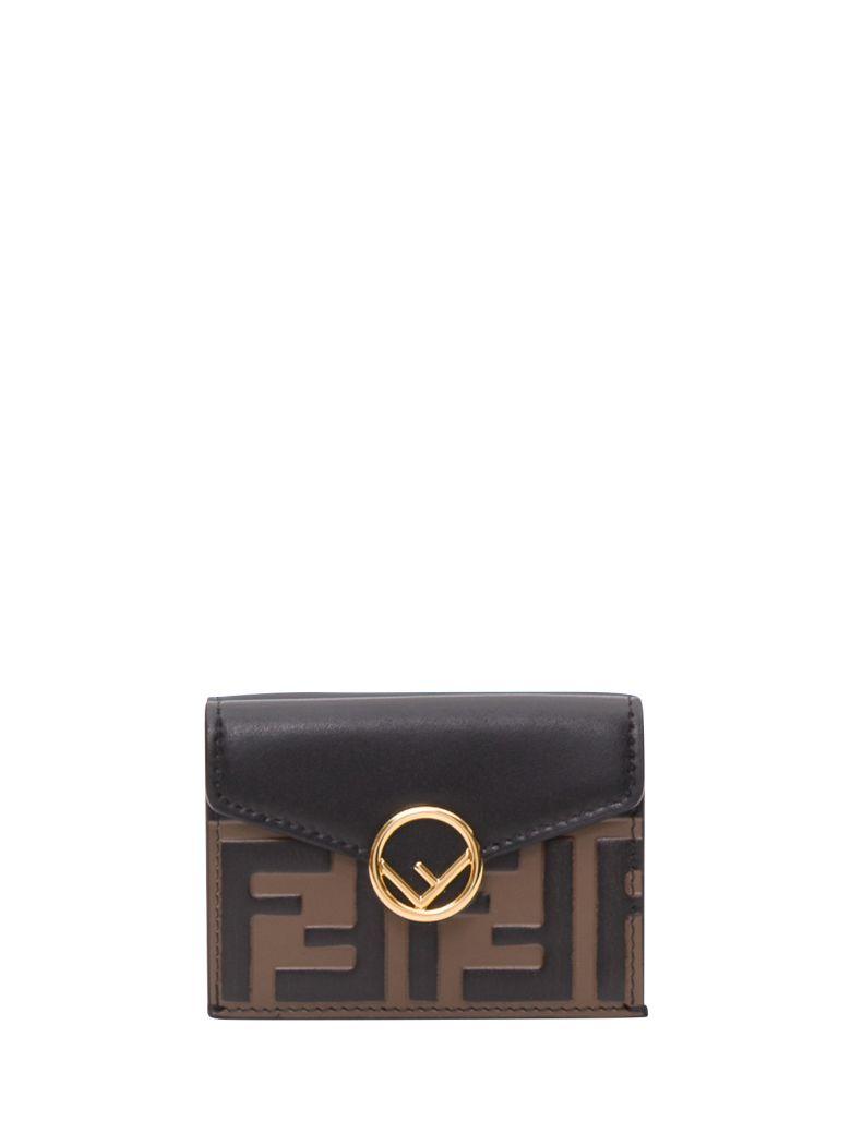 Fendi Compact F Is Fendi Tri-fold Wallet - Brown
