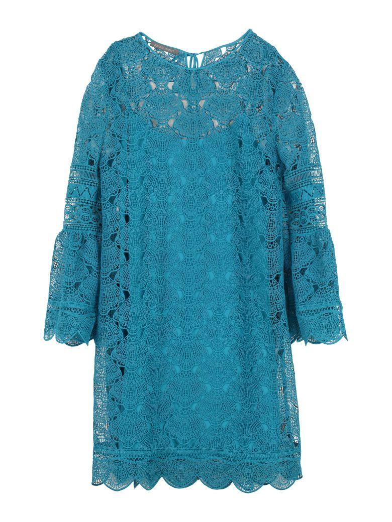 Alberta Ferretti Floral Macramé-lace Dress - Blue
