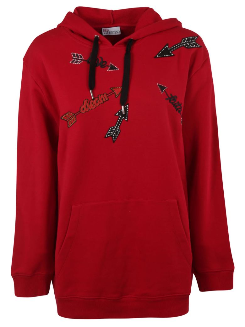 RED Valentino Arrow Patch Hoodie - Deep red