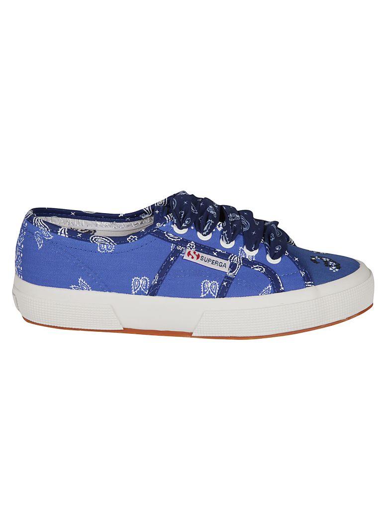 Alanui Bandana Sneakers - Blue/Multicolor