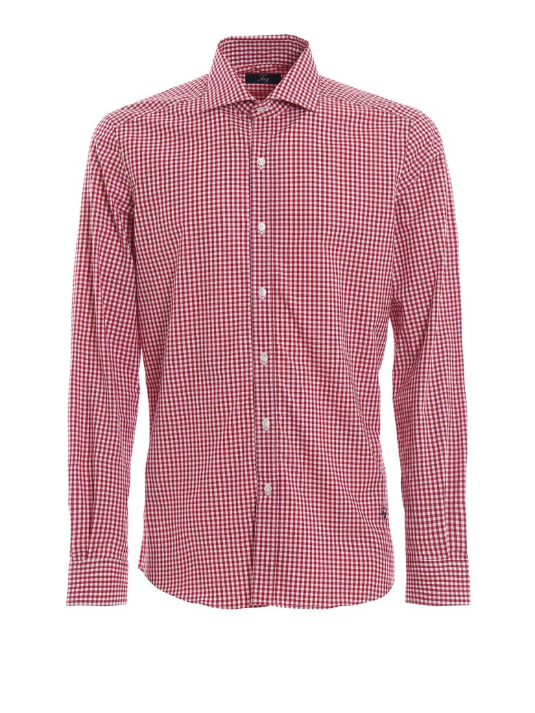 Fay Red Check Cotton Shirt - Red