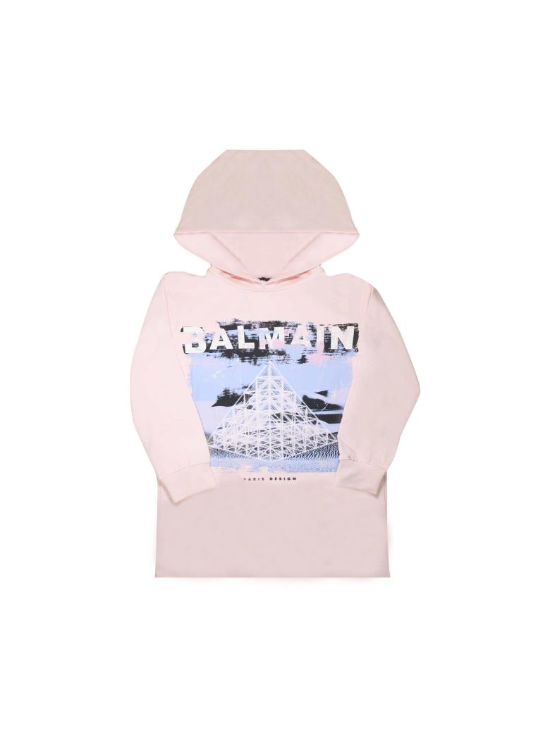 Balmain Pink Sweatshirt Dress - Unica