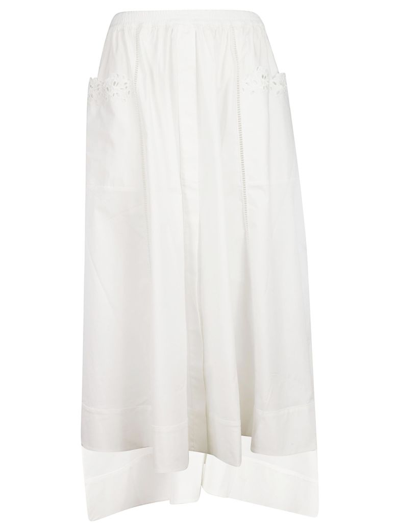 Ermanno Scervino High Low Skirt - White