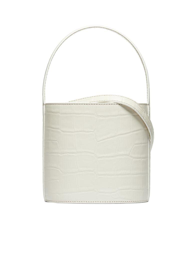 STAUD Embossed Bucket Bag - White