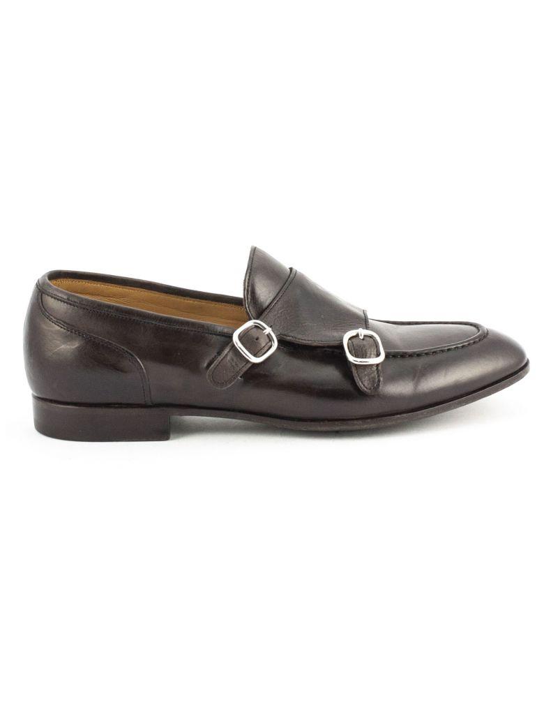 Green George Brown Leather Loafer - Testa Di Moro