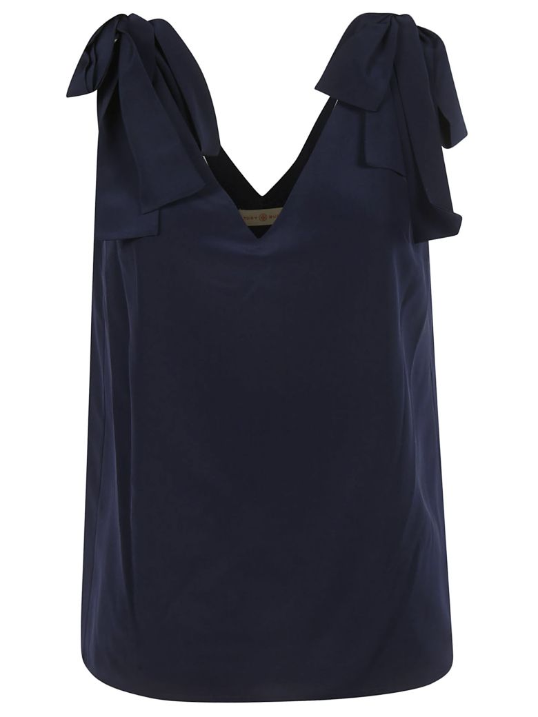 Tory Burch V-neck Top - navy