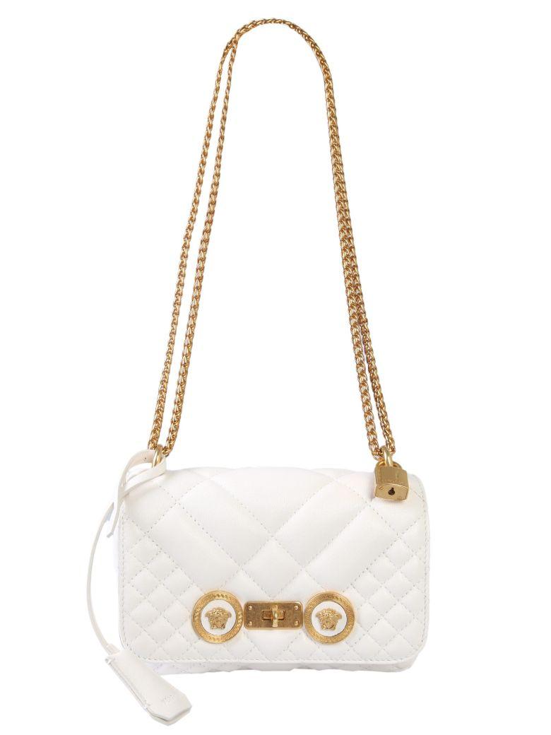 Versace Small Icon Shoulder Bag - BIANCO