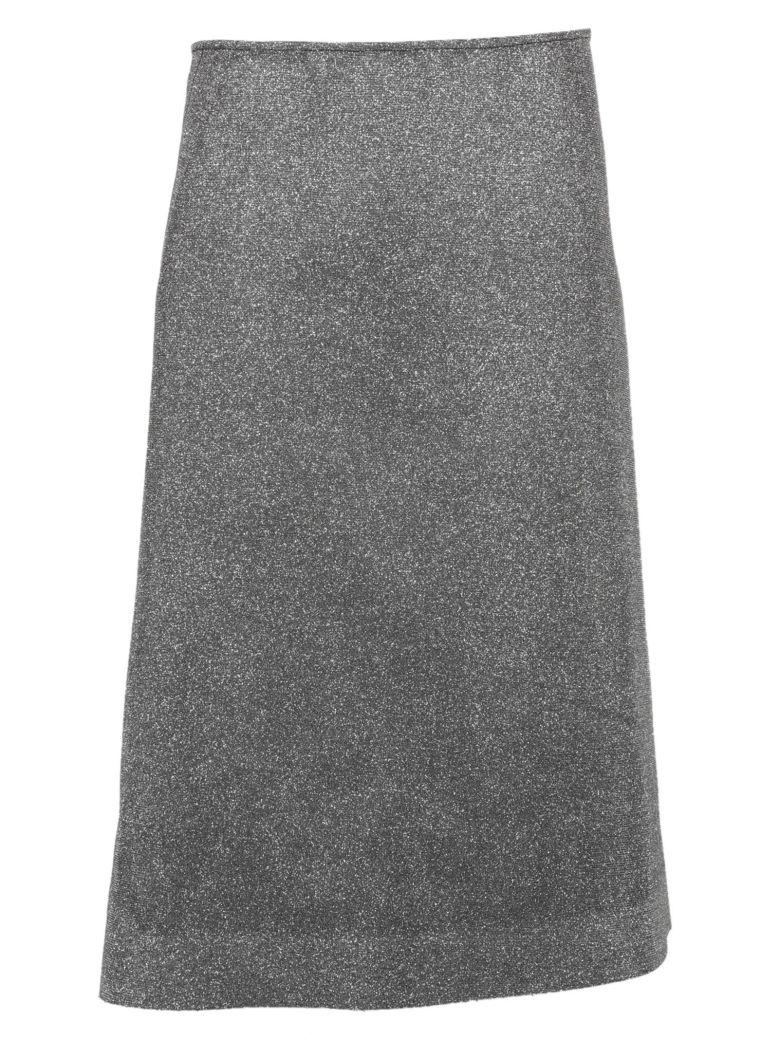 Cedric Charlier C?dric Charlier Glitter Skirt - Silver