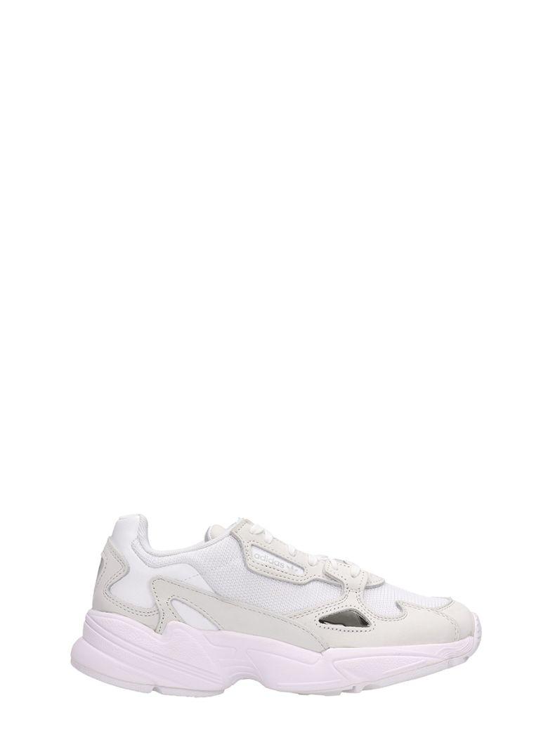 Adidas Falcon W White Fabric Sneakers - white