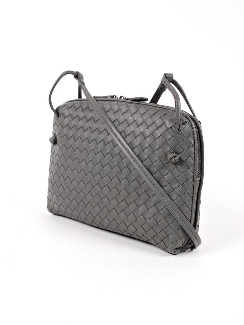 Bottega Veneta Nodini Weaved Shoulder Bag - New Light Grey