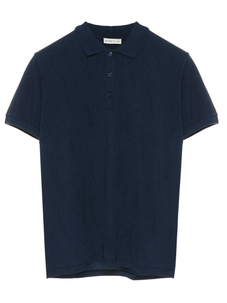 Etro 'paisley' Polo - Blue