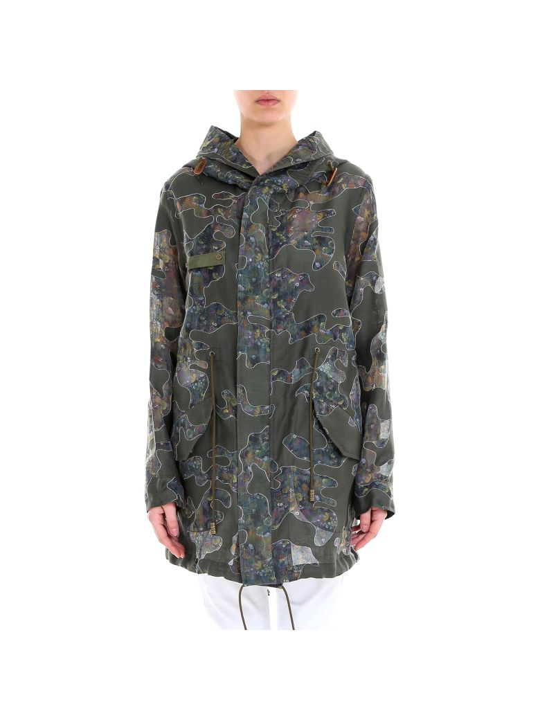 Mr & Mrs Italy Woman Reversible Parka Jacket - Green
