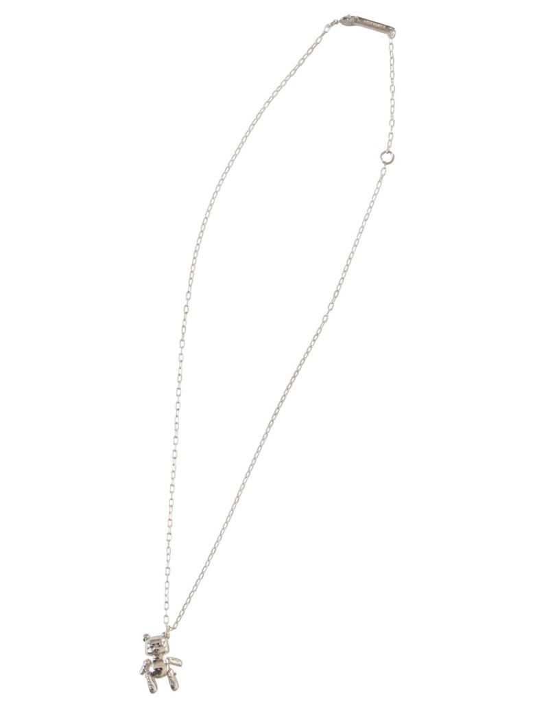 AMBUSH Inflated Teddy Bear Necklace - Silver