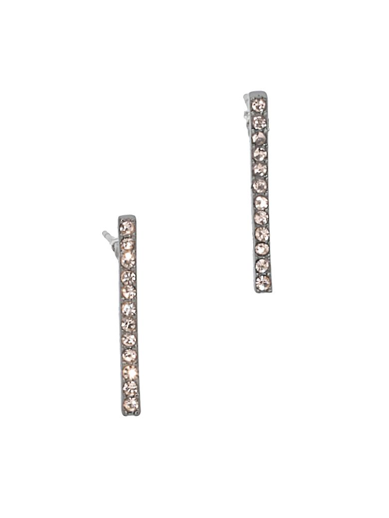 Federica Tosi Lobo Line Earrings - GUN METAL PLATED STRASS SILK