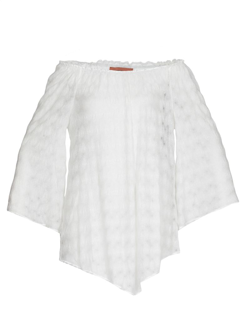 Missoni Sheer Beachrobe - White
