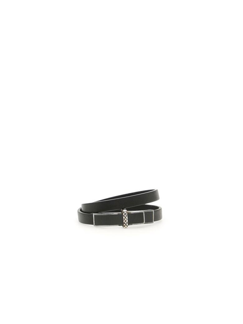 Bottega Veneta Leather Bracelet - NERO NERO NERO (Black)