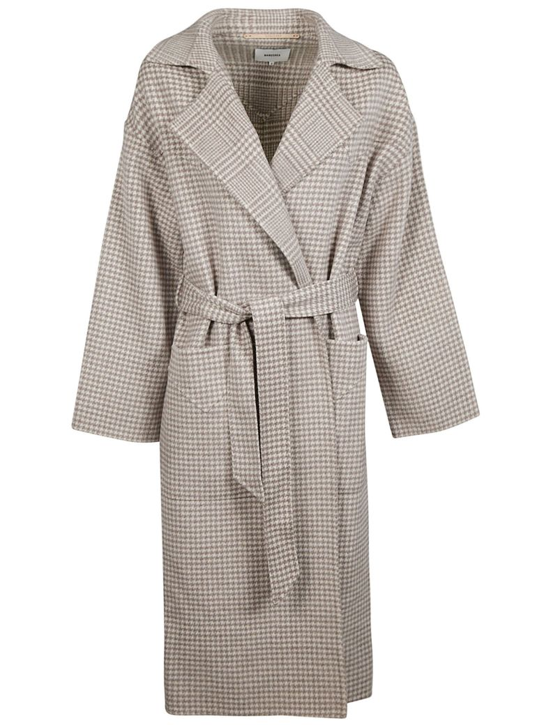 Nanushka Houndstooth Trench - Grey Check