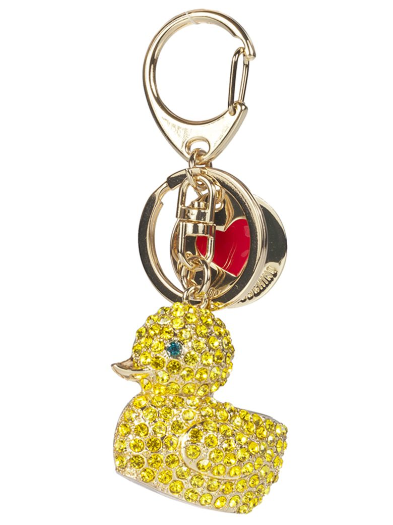 Love Moschino Duck Keyring - Metal gold