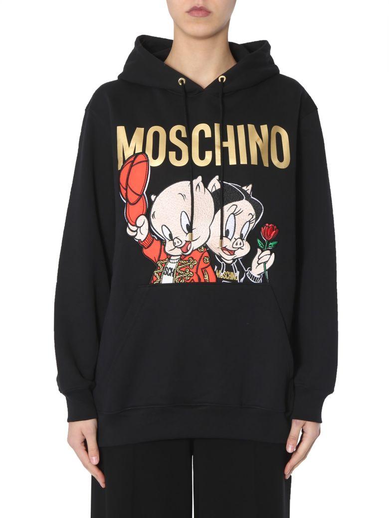 Moschino Hooded Sweatshirt - NERO
