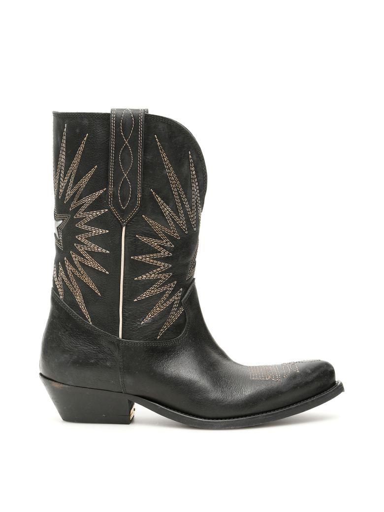Golden Goose Wish Star Boots - BLACK (Black)
