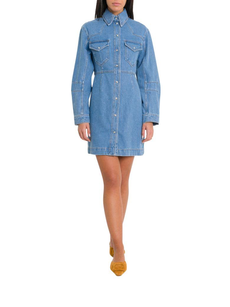 Nanushka Vilm Western Shirt Dress - Blu