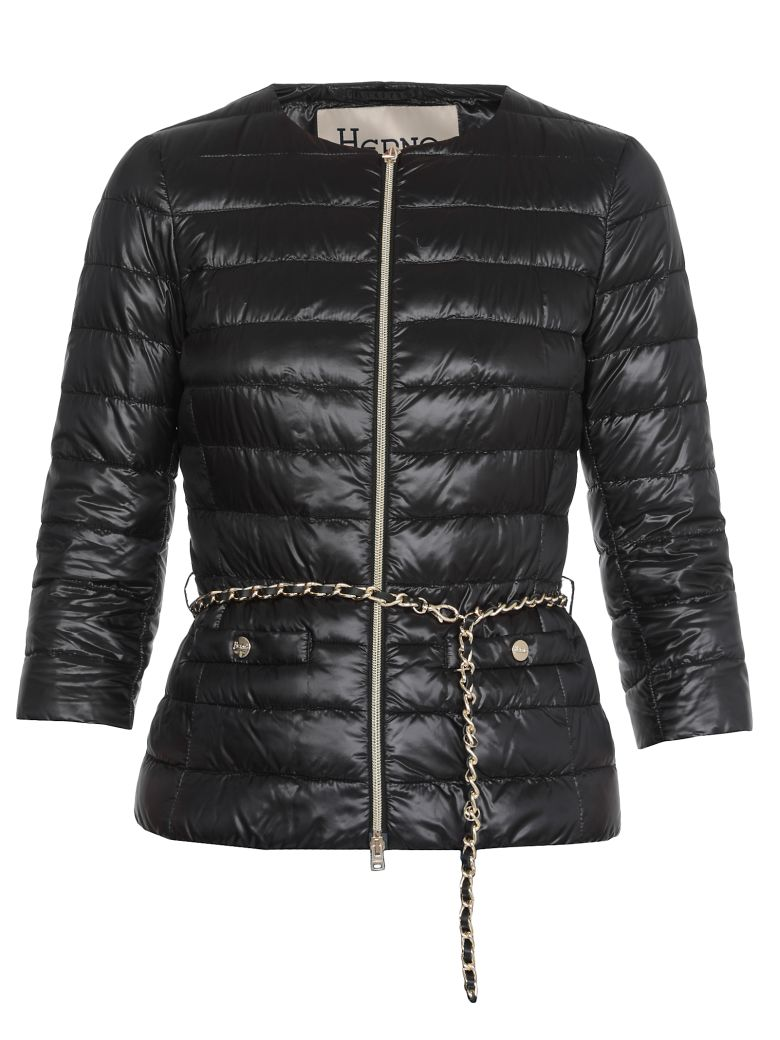 Herno Quilted Coat - Black