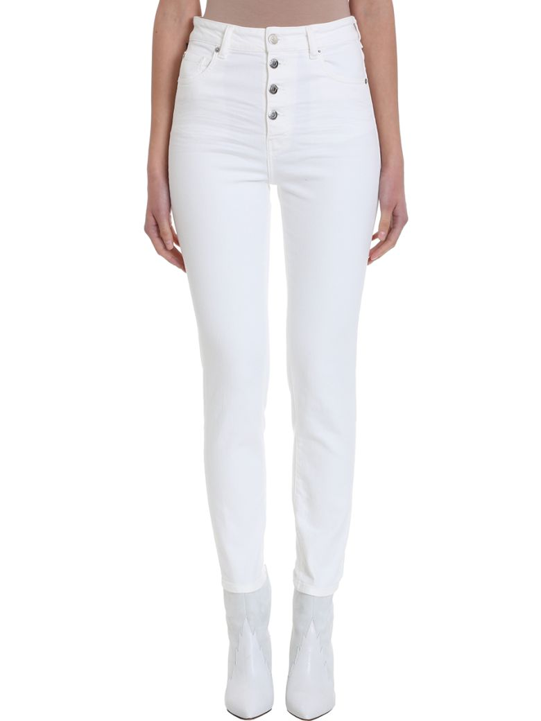 IRO Gaety Button Fly Jeans - white