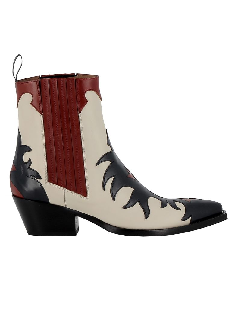 Sartore Multicolor Leather Ankle Boots - MULTICOLOR
